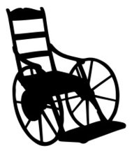 189x219 Old Fashioned Wheelchair Silhouette Premium Clipart