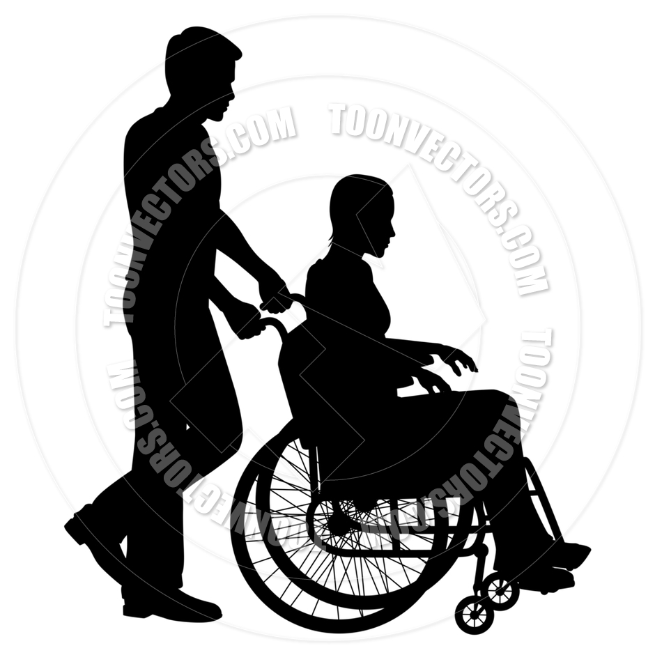 940x940 Patient In Wheelchair By Tawng Toon Vectors Eps