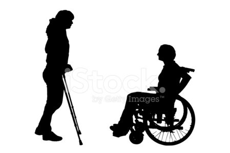 449x299 Vector Silhouette Of Disabled Stock Vectors