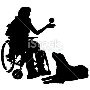 380x380 Vector Silhouettes Of People In A Wheelchair On A White Background