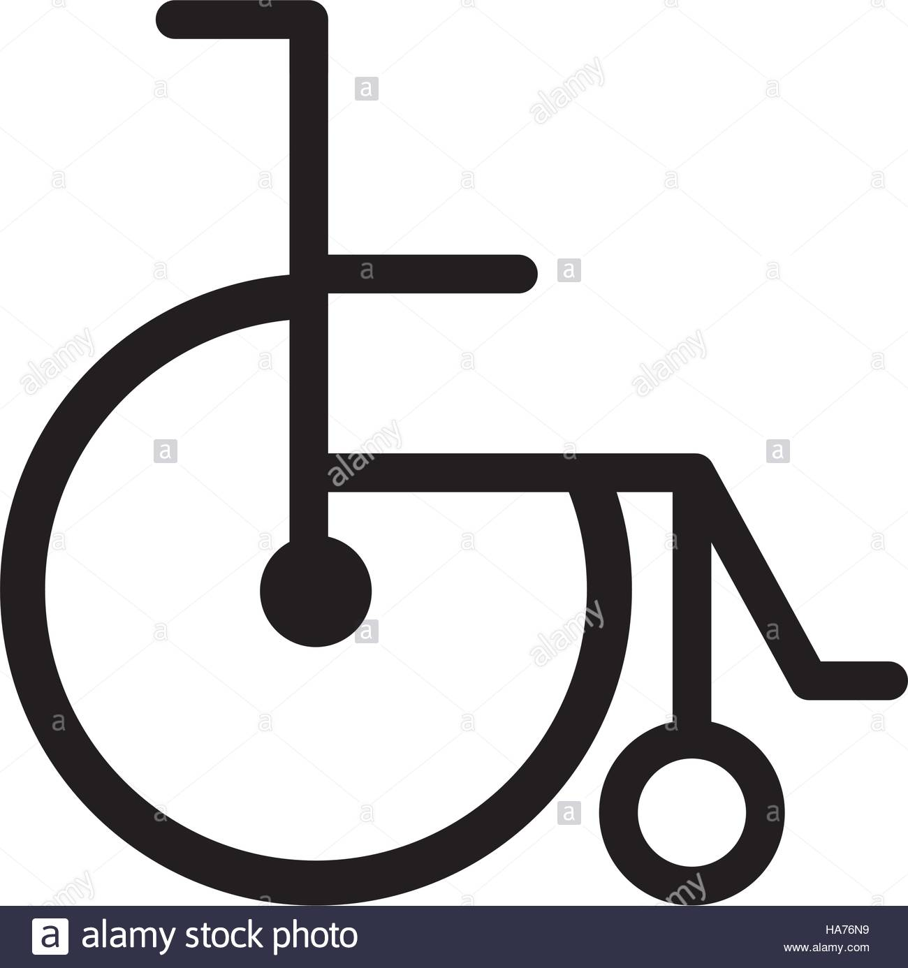 1300x1386 Black Silhouette Abstract Wheelchair Flat Icon Vector Illustration