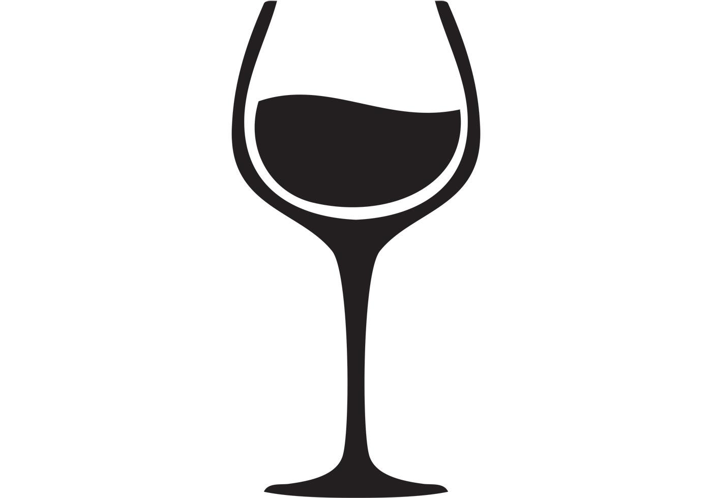 1400x980 Wine Glass Silhouette Clip Art