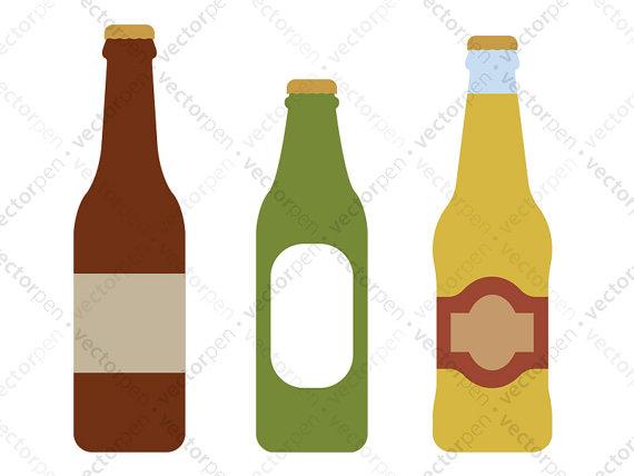 570x428 Beer Bottle Set Of 3 Svg. Scrapbooking Clip Art For Use In Cricut