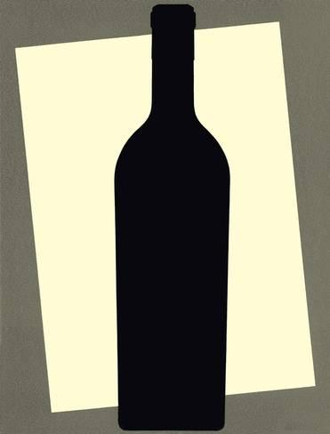371x488 Bottle Silhouette Posters