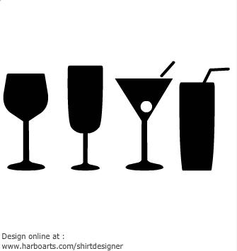 335x355 Wine Glass Silhouette Black And White Clip Art