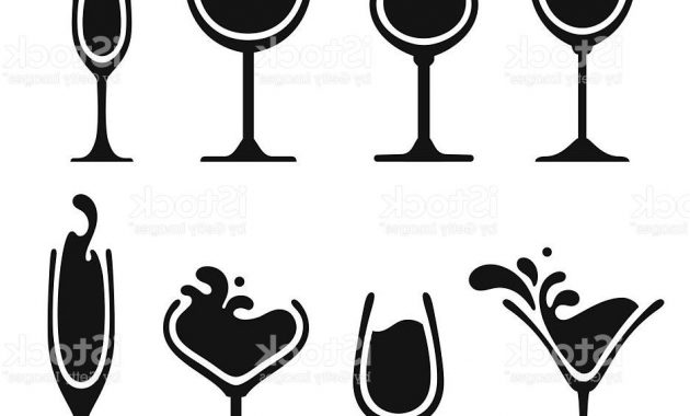 630x380 Wine Glass Silhouette Vector Archives