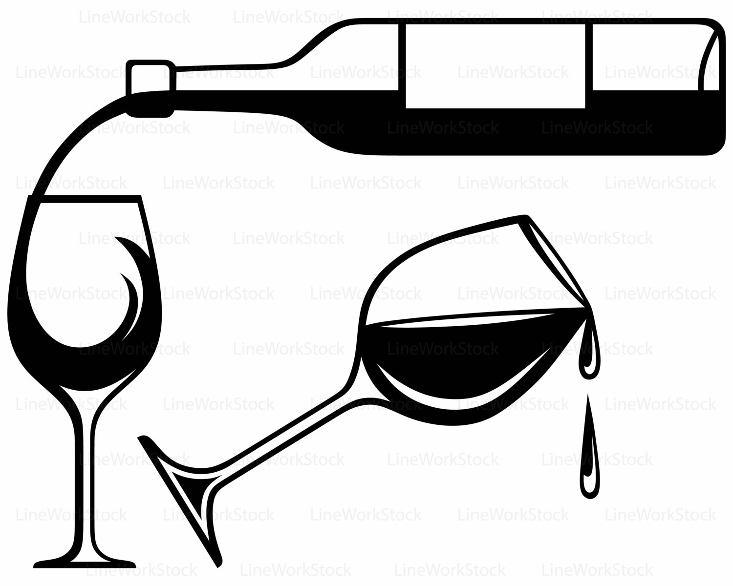Silhouette Wine Glasses At Getdrawings Com Free For