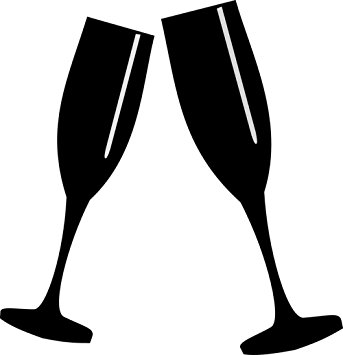 343x355 Laminated 24x24 Poster Glasses Champagne Toast