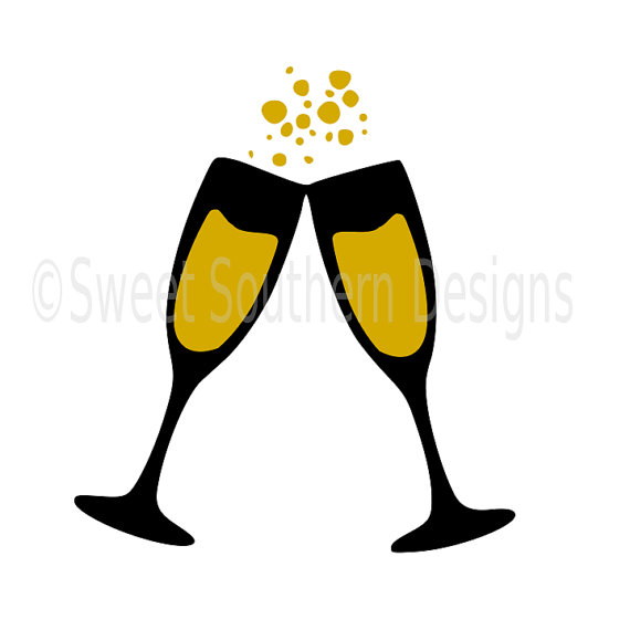 570x570 Champagne Glasses New Years Svg Instant Download Design For Cricut