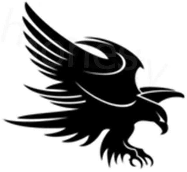 640x590 Black Brave Wings Eagle Hawflying Silhouette Truck Laptop Wall