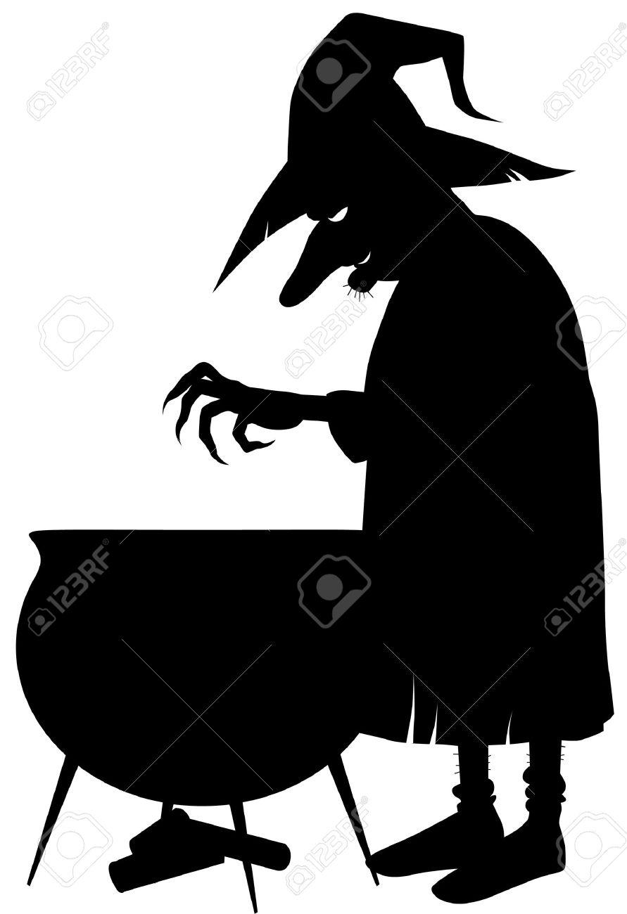 891x1300 Cauldron Silhouette Clipart