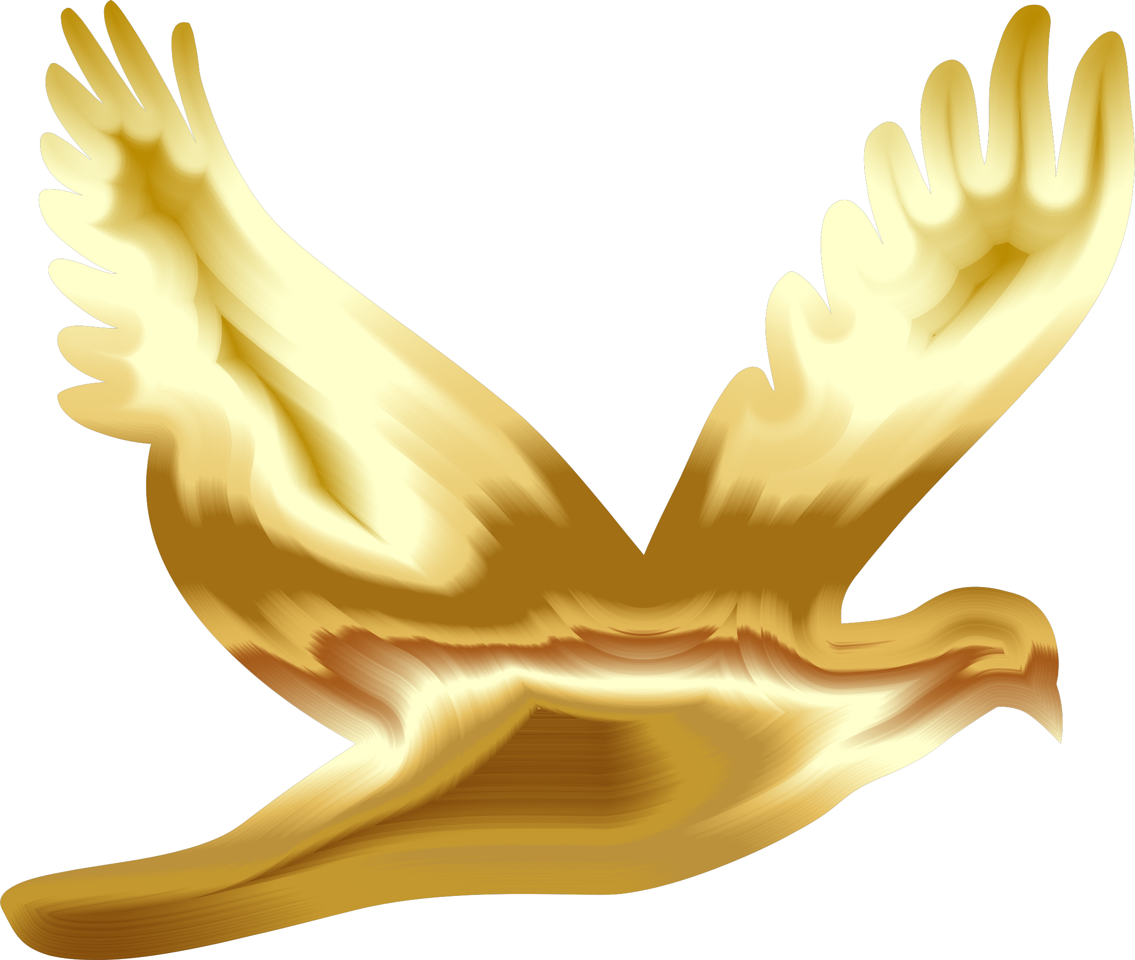 2322x1964 Gold Flying Dove Silhouette No Background Icons Png