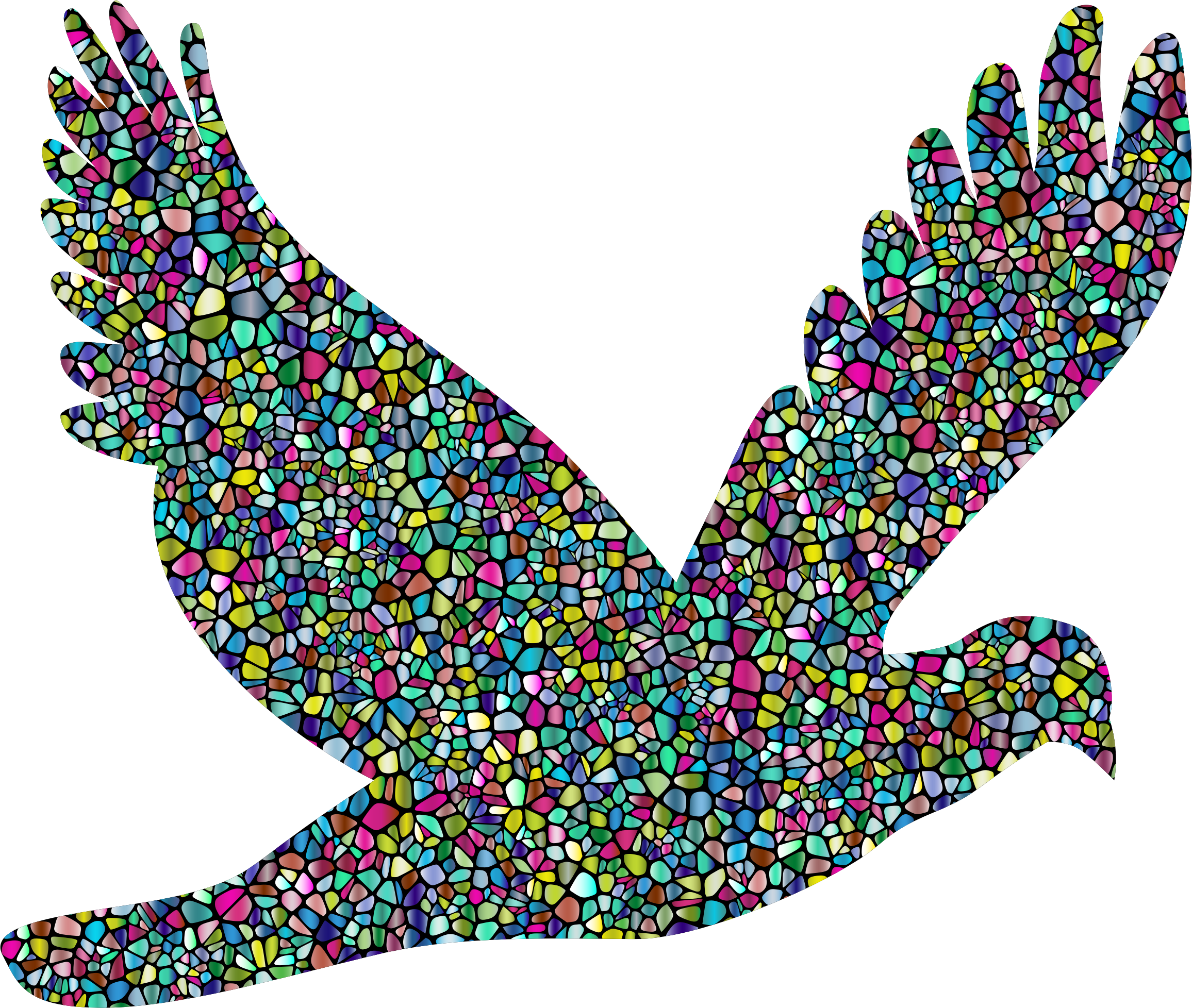 2312x1956 Polyprismatic Tiled Flying Dove Silhouette With Background Icons