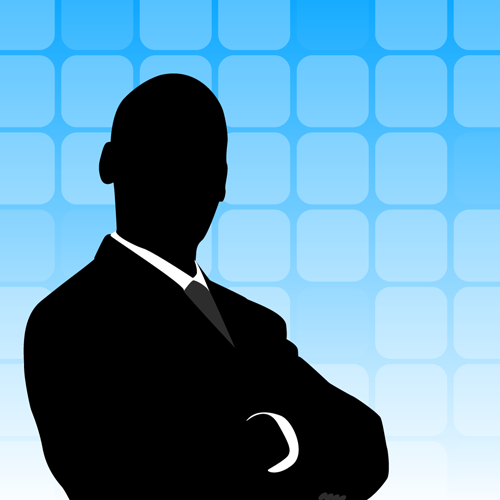 500x500 Businessman Silhouette Background