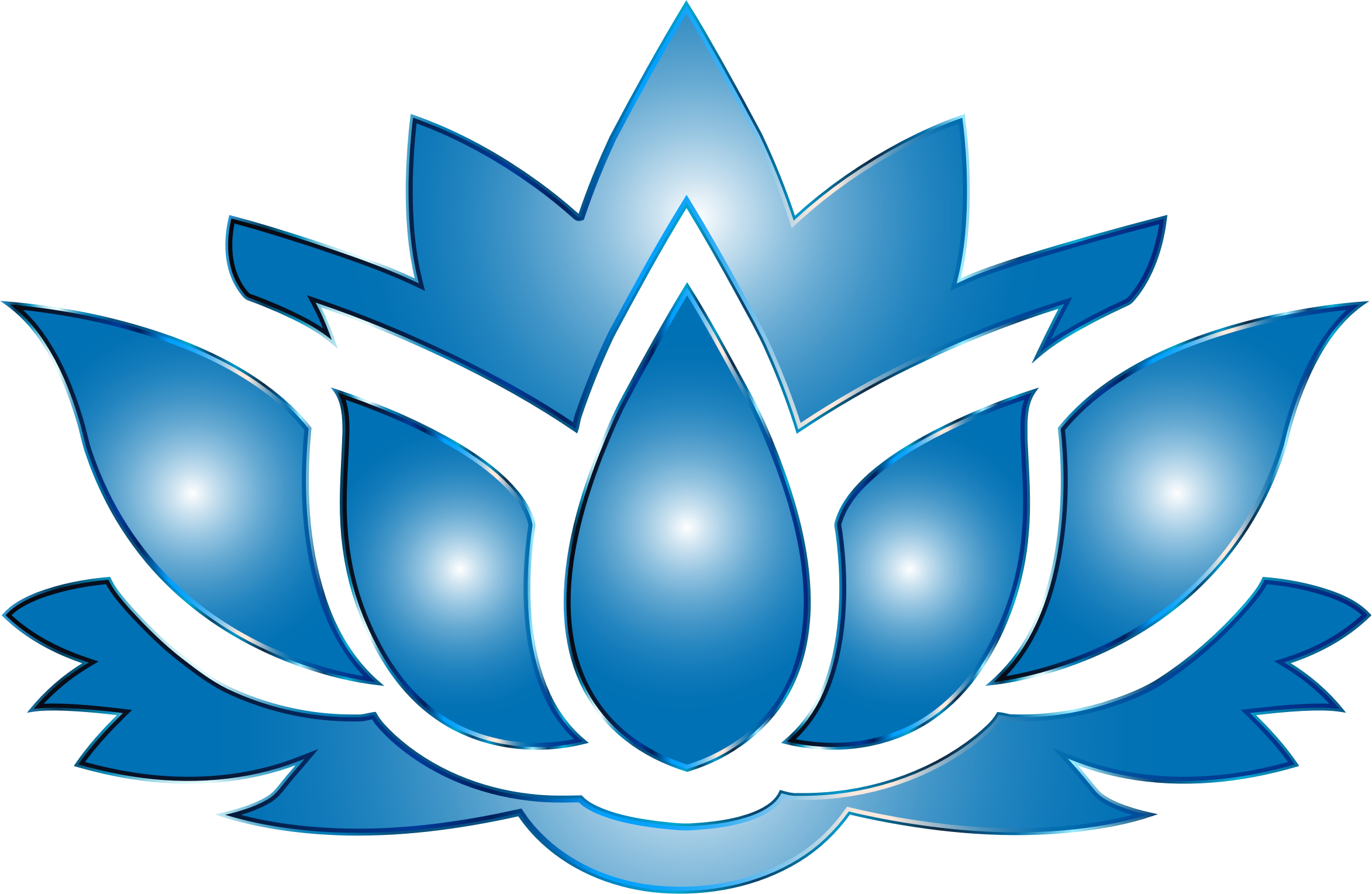 2346x1528 Ultramarine Lotus Flower Silhouette No Background Icons Png