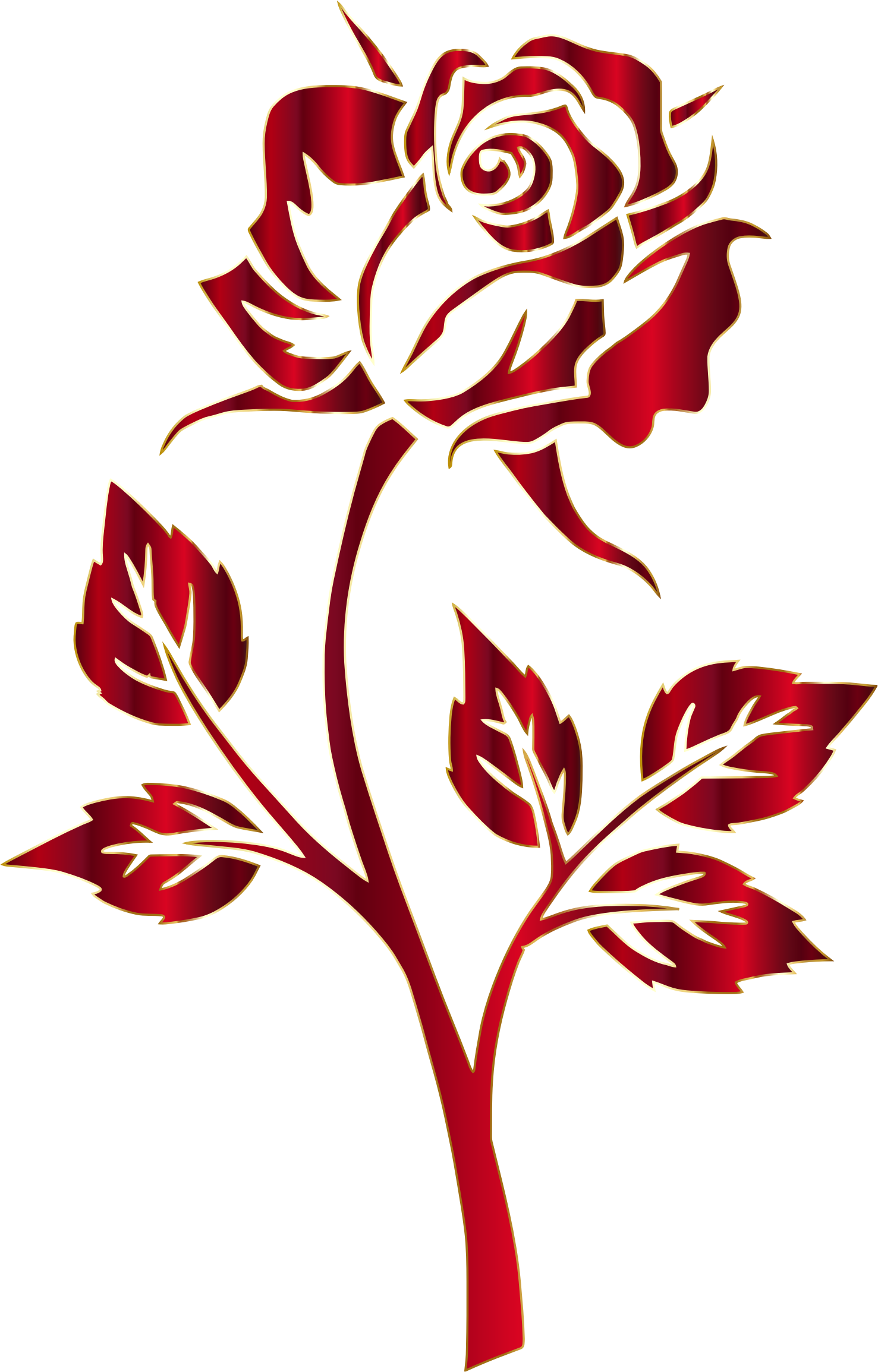 1477x2310 Crimson Rose Silhouette No Background By @gdj, Crimson Rose