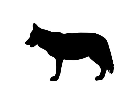 570x427 Gray Wolf Decal Outdoor Vinyl Sticker Silhouette Wolf Sticker