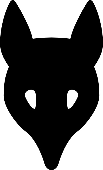 360x590 Wolf Head Silhouette Clip Art Free Vector In Open Office Drawing
