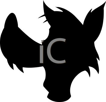 350x336 Animal Silhouette Of A Wolf Head