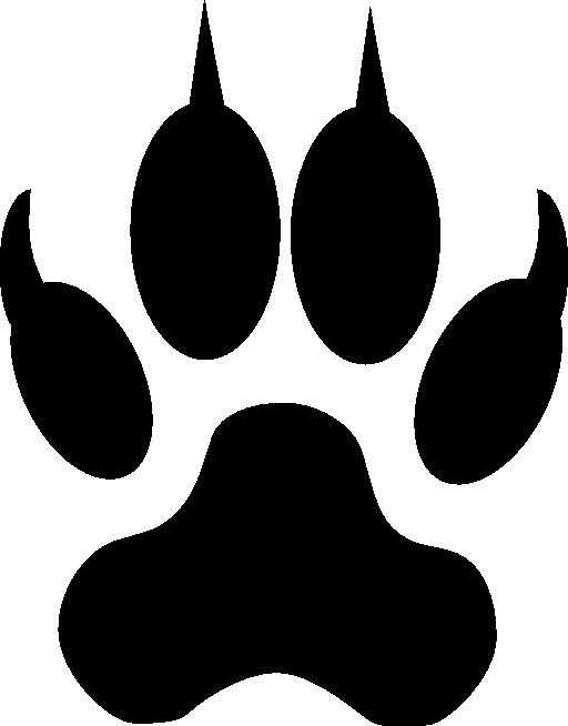 512x654 Wolf Silhouette Clip Art