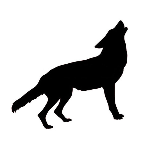 Silhouette Wolf Howling
