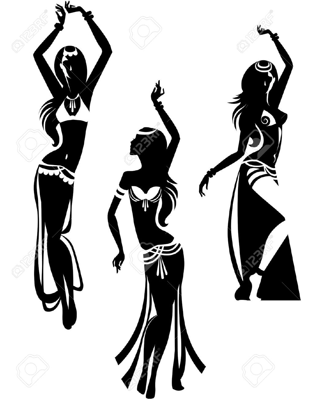 Silhouette Woman Dancing