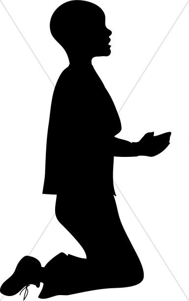 384x612 Boy Kneeling In Silhouette Clipart Prayer Clipart