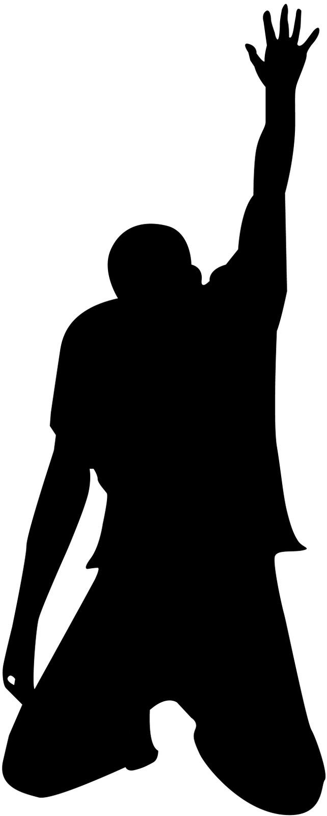 642x1600 Woman Praying Silhouette