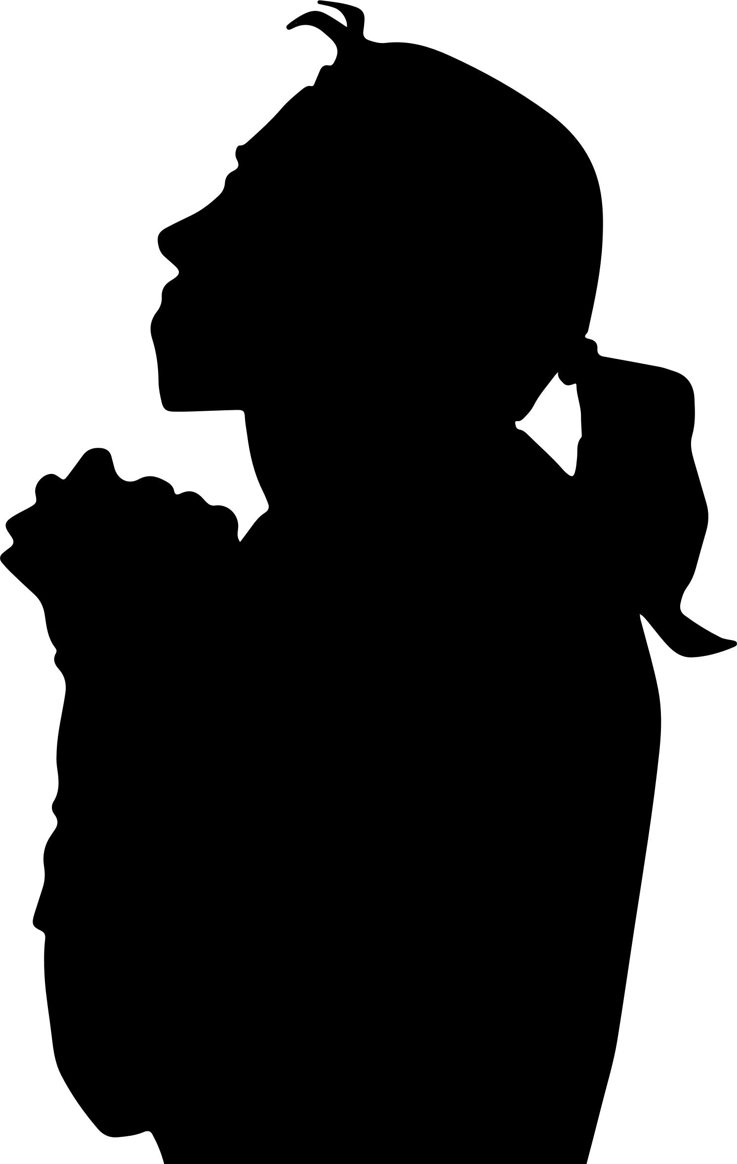 1492x2355 Woman Praying Silhouette 2 Icons Png