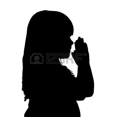 450x450 Woman Kneeling Praying Silhouette