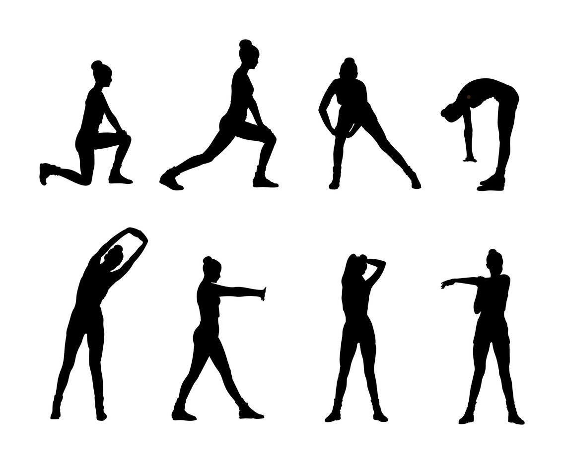 1136x936 Woman Stretching Silhouette Vector Vector Art Amp Graphics