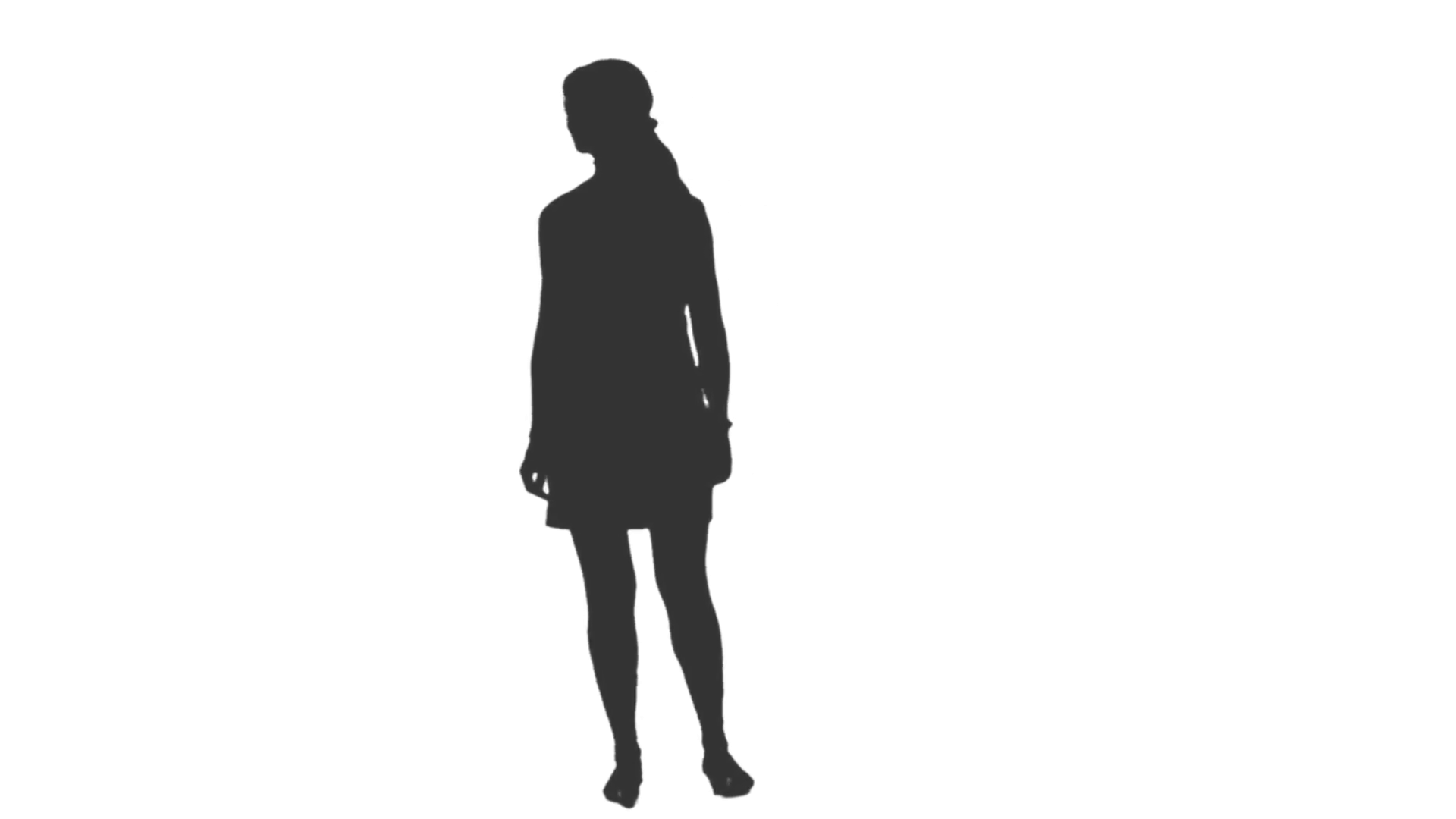 Silhouette Woman Walking