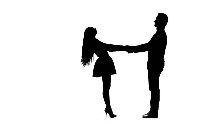 852x480 Happy Female Couple Walking Away And Holding Hands. Animated