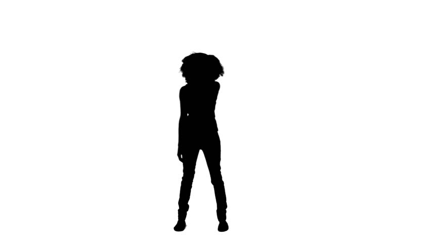 Silhouette Woman With Gun