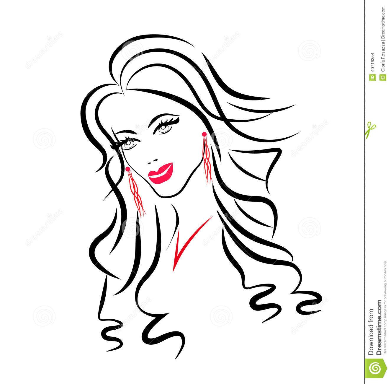 1325x1300 Silhouette Beautiful Woman Face Vector
