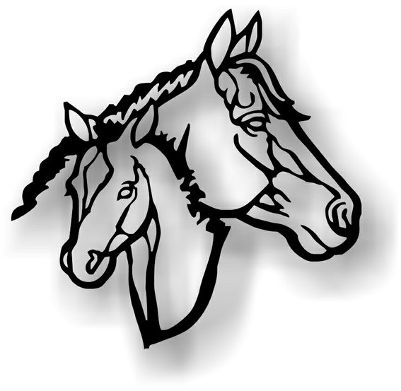567x553 Western Horse Art
