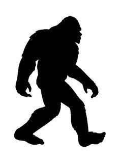236x316 Silhouette Of A Bigfoot Walking Bigfoot, Silhouettes