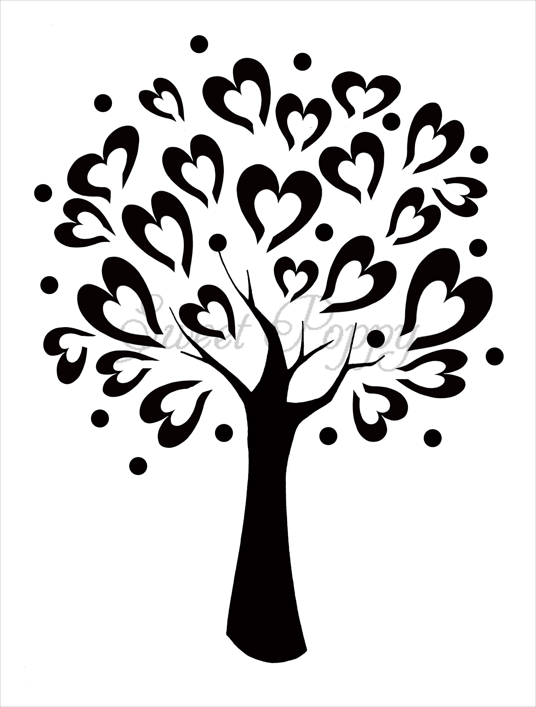 4400x5800 Tree Stencils Sweet Poppy Stencil Tree Of Love Stencils