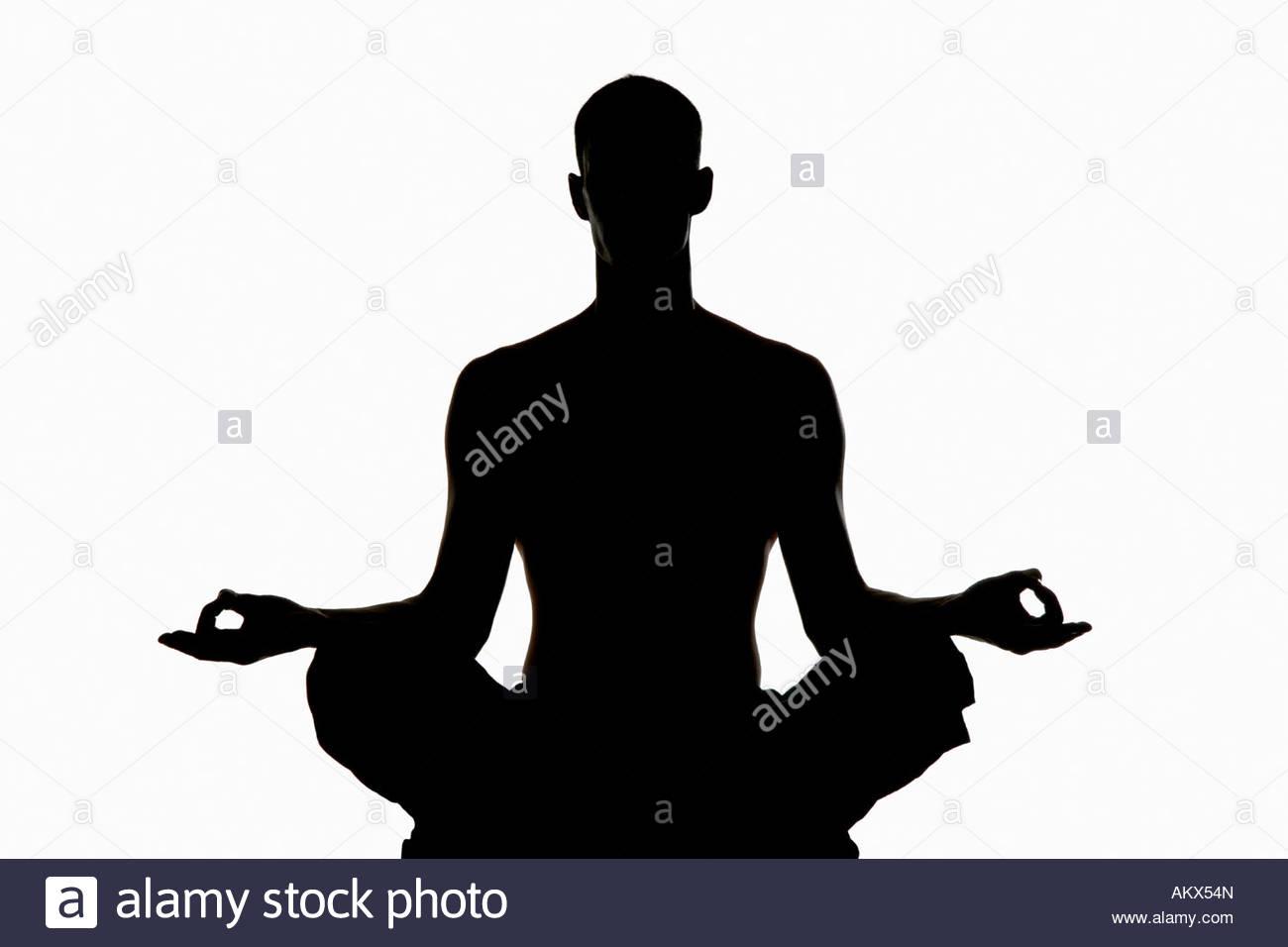 1300x956 Man Exercising Yoga Silhouette Stock Photo 15085892