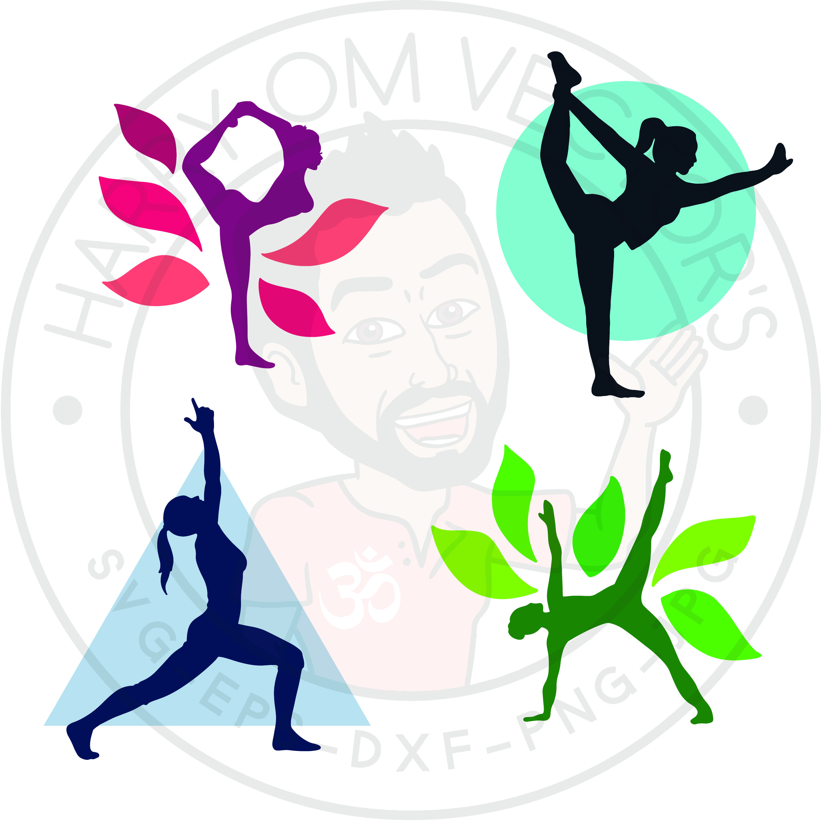 2647x2647 Standing Yoga Poses Vectors, Svg Dxf For Silhouette Cameo