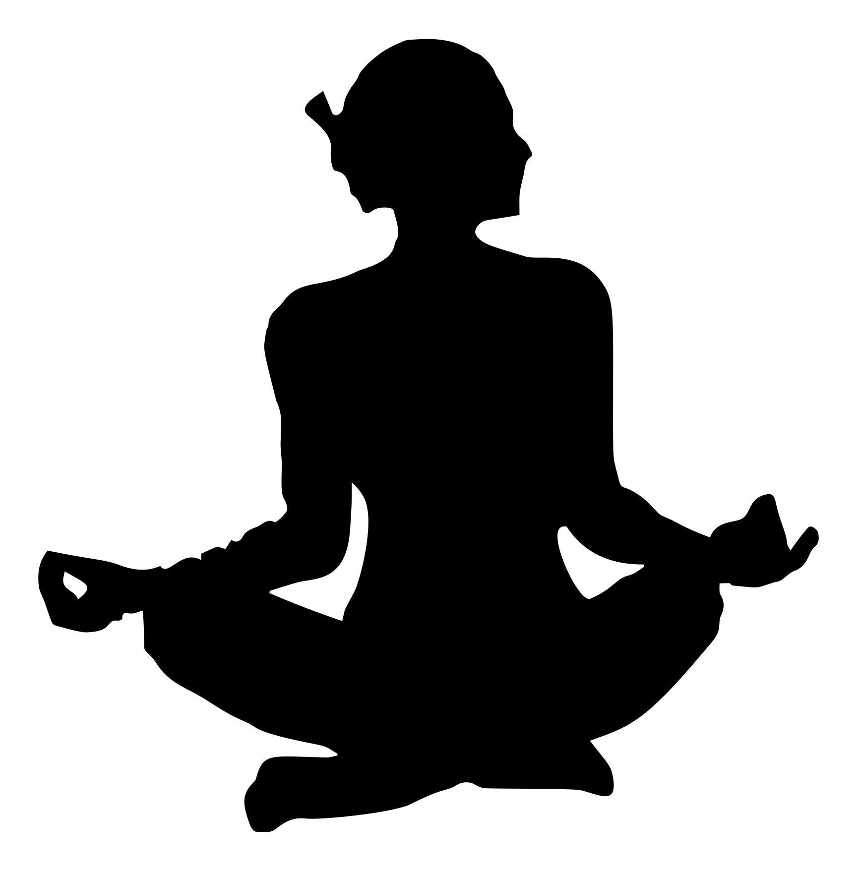 1728x1757 Female Yoga Pose Silhouette 12 Clipart