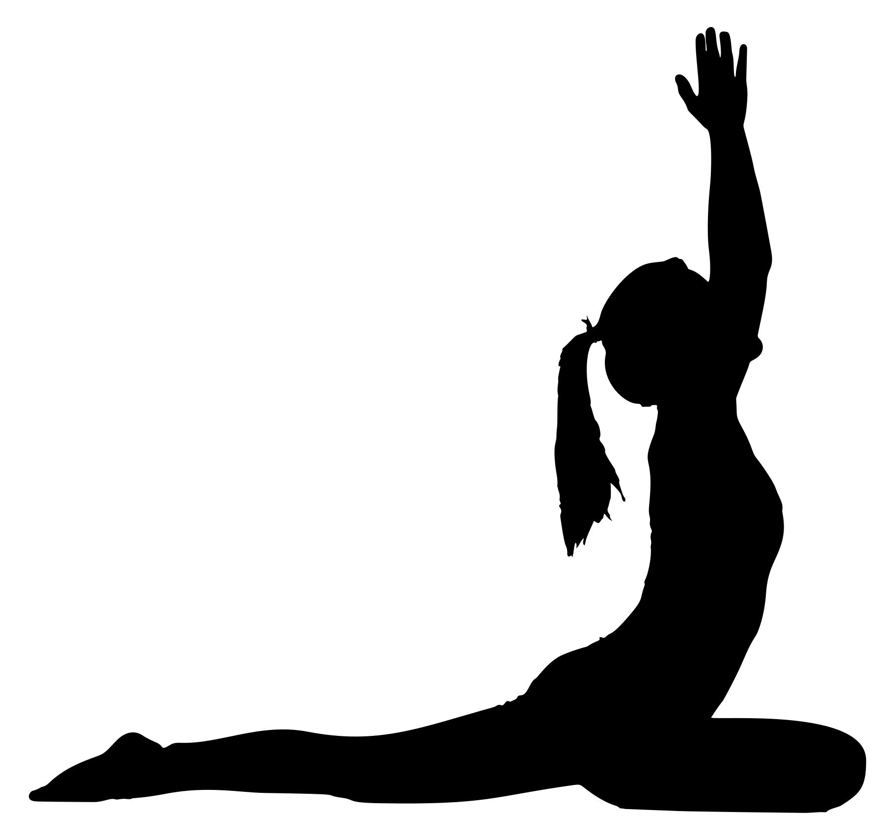 1823x1710 Female Yoga Pose Silhouette 27 Clipart