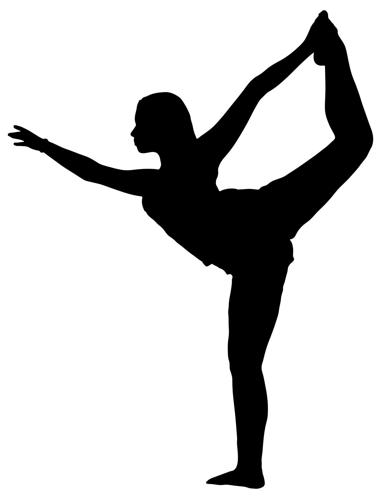 1274x1668 Female Yoga Pose Silhouette 5 Clipart