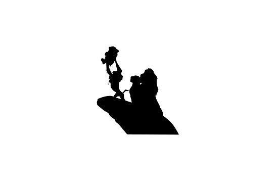 550x366 Lion King Simba Circle Of Life Silhouette Wall Decal
