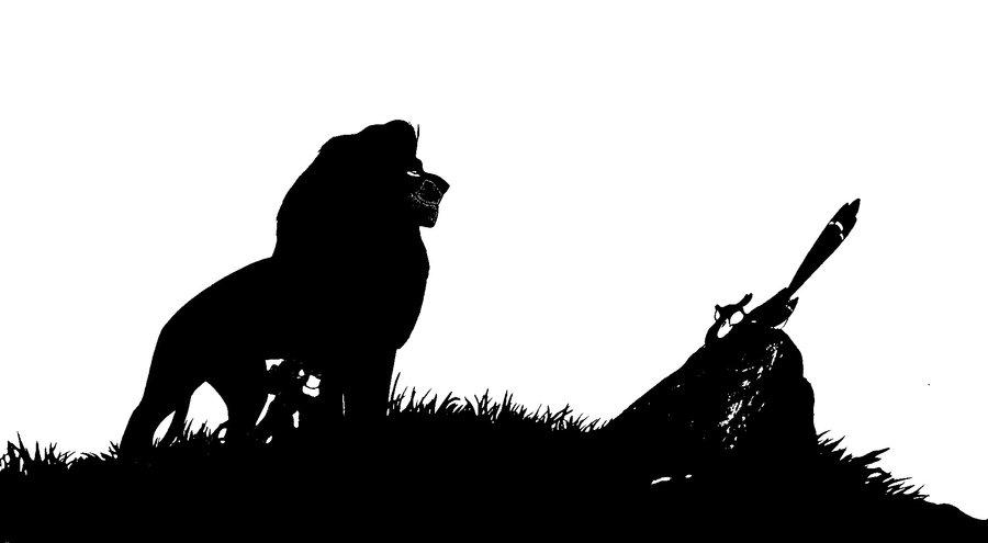 900x495 Black And White Mufasa Simba And Zazu By Caitlin150