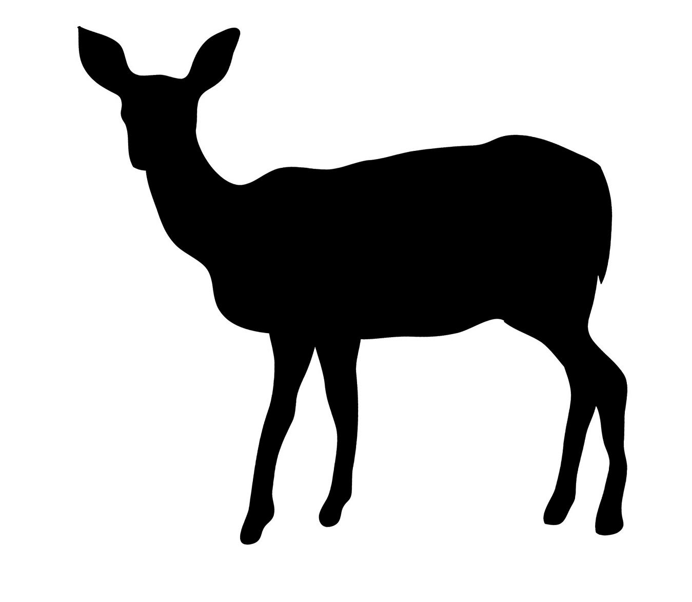 1349x1173 Deer Silhouette
