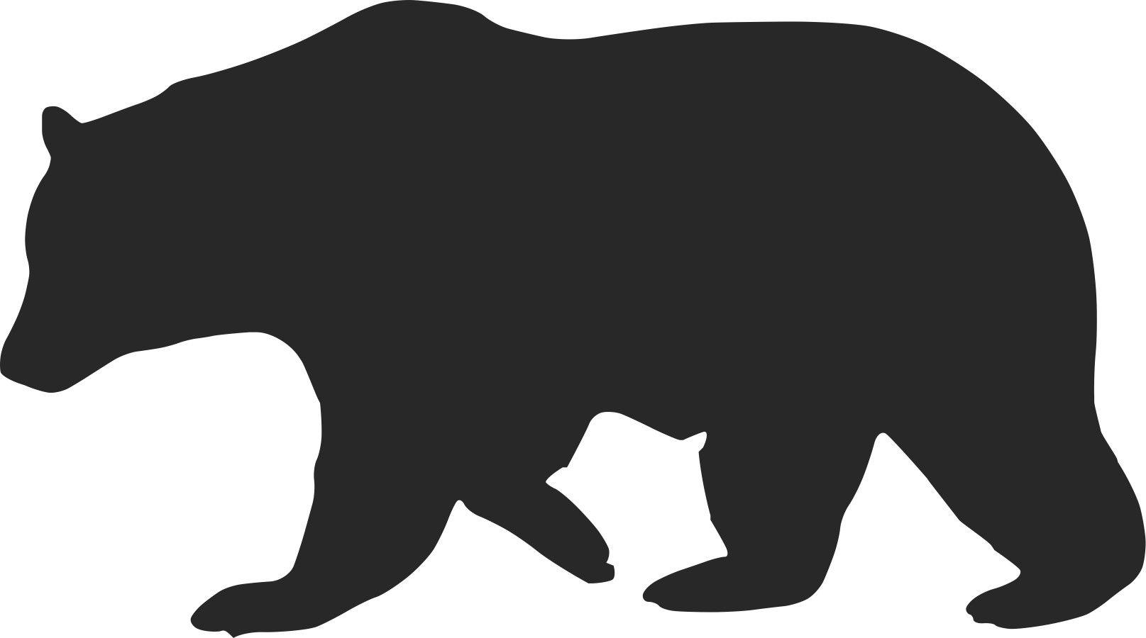 1615x900 Free Bear Silhouette Vectorbear Silhouette