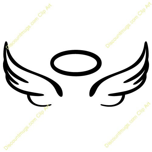500x500 40 Best Angel With Halo Tattoo Outline Images