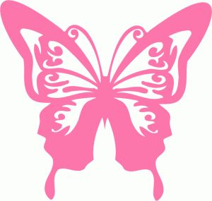Simple Butterfly Silhouette