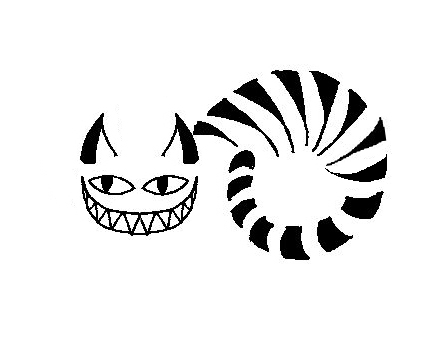 445x337 Cheshire Cat Clipart Tribal